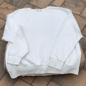 NIKE Men's Sweatshirt Crew Neck Long Sleeve XL Cream Off White